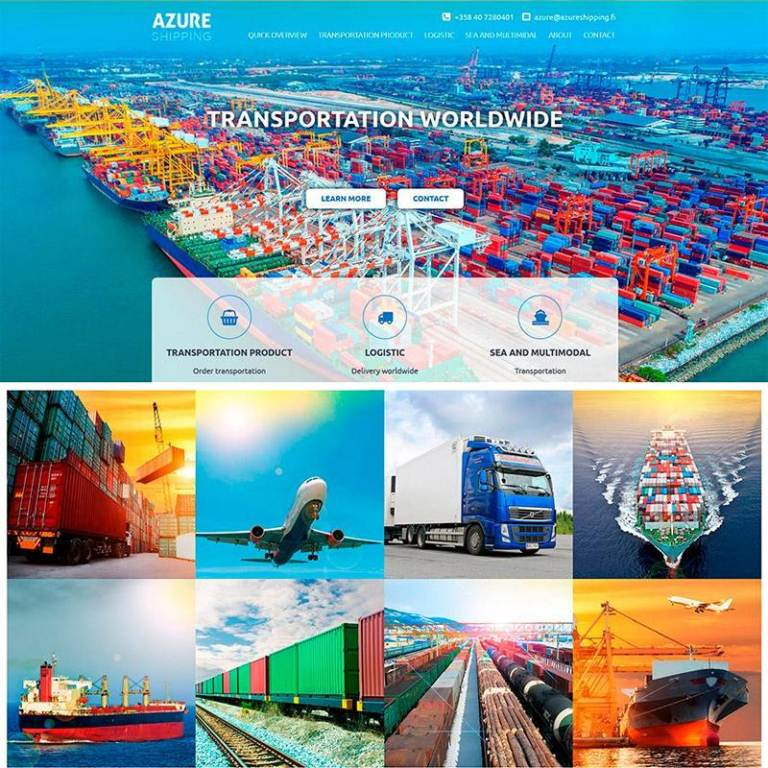 Azure Shipping website